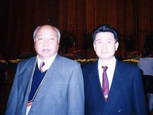 中国名医、北京針灸学会会長、中国針灸三通法研究会会長、賀普仁教授との一枚